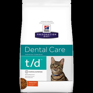 Bag of Hills Prescription Diet dental care cat food